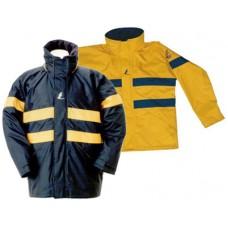 Непромокаемая куртка «Canberra», синий с желтыми полосами. Размер: M