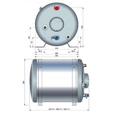 Бойлер, 40 л, 1200ВТ, круглый, с теплообменником.