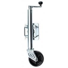Опора с колесом для трейлера, с крепежным кронштейном (381 мм)