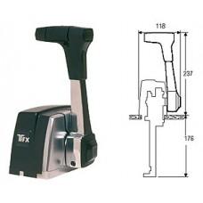 Привод дистанционного управления газом и реверсом «700 TSLT», защелка нейтрали и клавиша трима.