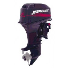Лодочный мотор «Mercury 40ELPTO» с дейдвудом 508 мм, дистанционным управлением, электрическим запуском, системой автоматического приготовления топливной смеси и электрогидравлическим изменением наклона.