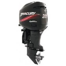 Лодочный мотор «Mercury 200CXL Optimax» с дейдвудом 635 мм и левым направлением вращения гребного вала. Дополнительная защита для использования в соленой воде.