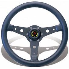 Рулевое колесо «Falcon», серебристые спицы / черный обод, 310 мм.