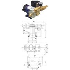 Автоматическая нагнетательная помпа, 26 л/мин, напряжение питания 12 В.