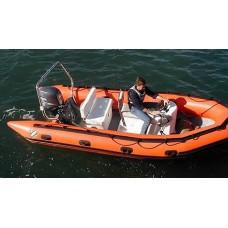 Лодка «SRMN 500» для пожарной охраны Atlantic, оранжевая