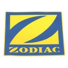 Логотип «Zodiac» 10 х 10 см, желтый с синим
