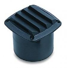 Вентиляционная решетка с патрубком, черная