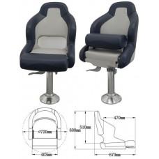Кресло с болстером «First Mate», светло-серый + темно-серый