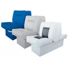 Сиденье двойное раскладное, бело-синее