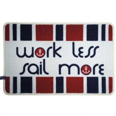 Коврик на нескользящей основе «Work less — Sail more», 68×44 см