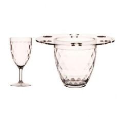 Ведерко для шампанского + бокалы, 20х21 см