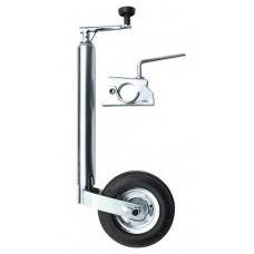 Опора с колесом для трейлера, без крепежного кронштейна (с зажимом)