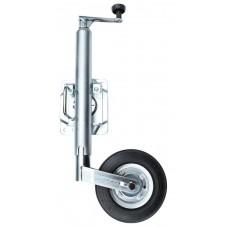 Опора с колесом для трейлера, с крепежным кронштейном (330 мм)