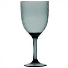 Бокалы для вина, зеленовато-дымчатые 10х20,3 см, 6 шт
