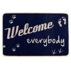 Коврик на нескользящей основе «Welcome everybody», 68x44 см